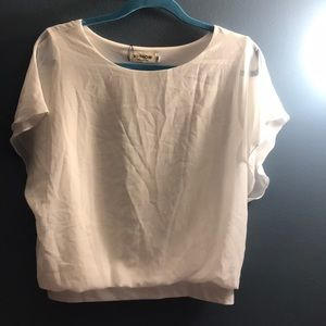 Loose Casual Short Sleeve Chiffon Top Blouse